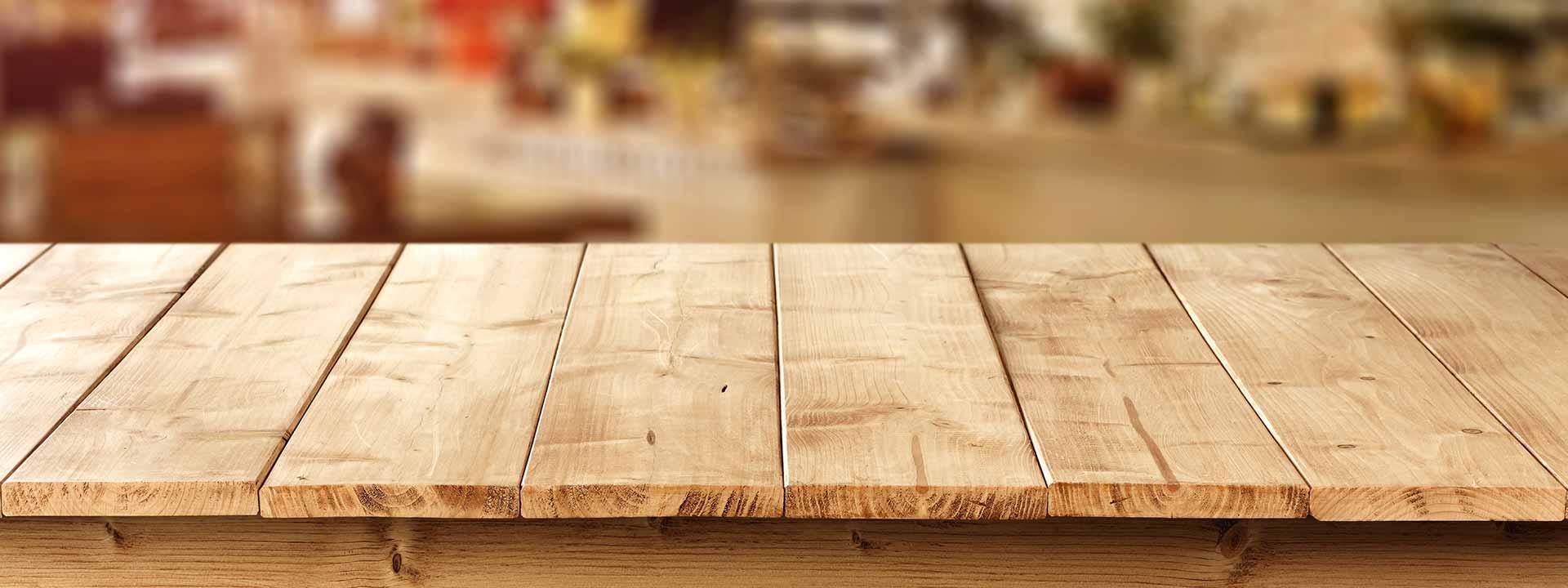 Holztisch-Slider